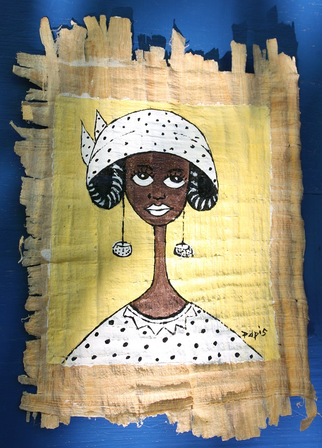 Femme au foulard à pois