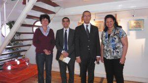 Visite d'une délégation de l'ambassade d'Egypte à Paris
