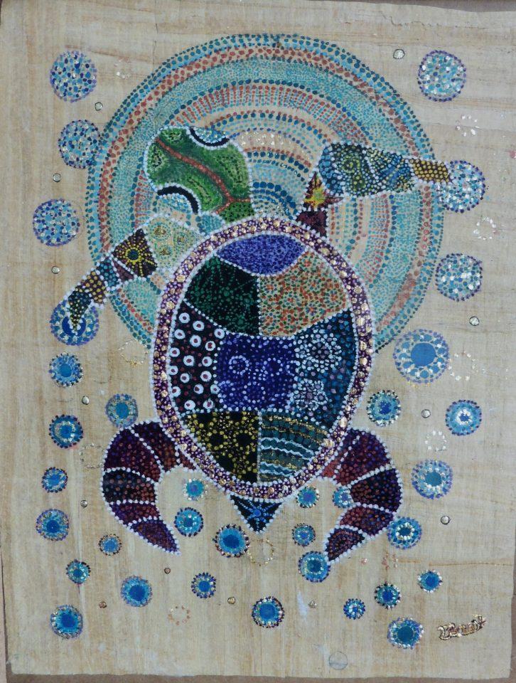 «Le rêve de la Tortue» de Brigitte Boulanger artiste enlumineuse