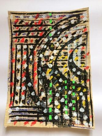 «Abstrait» de Hélène Jacob artiste peintre